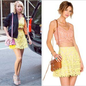 Lovers + Friends contessa coastline lace skirt